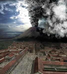 Image of Pompeii and Vesuvius