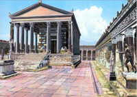 Image of the Temple of Jupiter in Pompeii