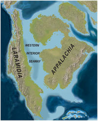 Image of the Western Interior Seaway of North America